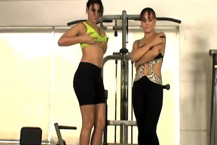 Strip at the Gym - Jeniffer & Taty Oliveira